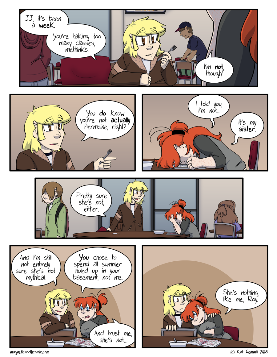 There is no Hermoine in this comic. They're all Weasleys.